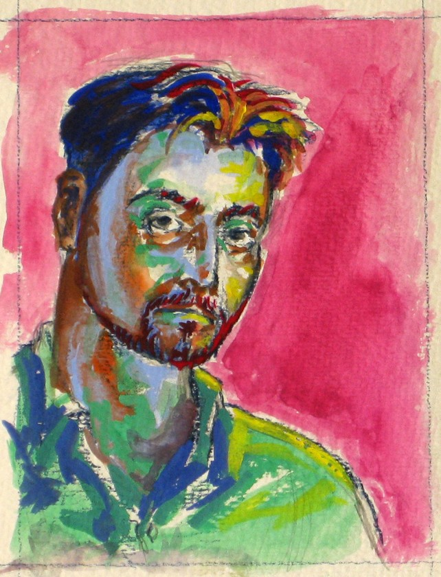 Gouache - Self Portrait