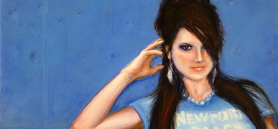 Oil Painting – Photo, Blue Girl