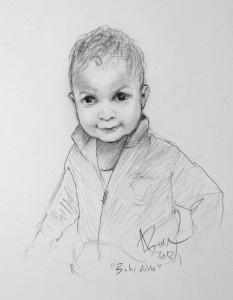 Pencil Portrait Baby