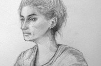 Pencil – Portrait, Girl, Gazing